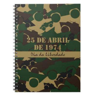 Portugal, diámetro DA Liberdade o día de la Libros De Apuntes