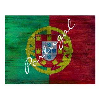 Portugal distressed Portuguese flag Postcard