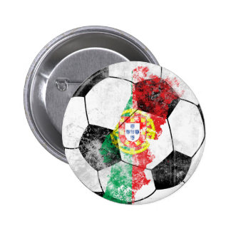 Portugal Distressed Soccer 2 Inch Round Button