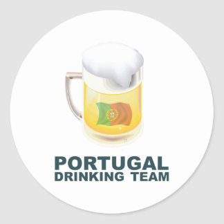 Portugal Drinking Team Classic Round Sticker