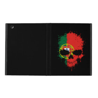 Portugal Dripping Splatter Skull iPad Folio Cases