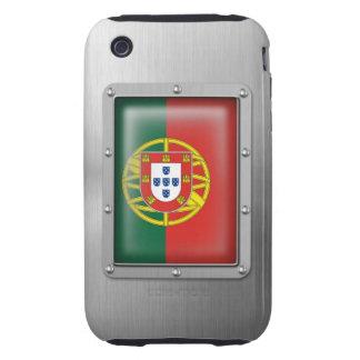 Portugal en acero inoxidable iPhone 3 tough carcasas