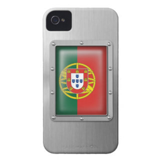 Portugal en acero inoxidable iPhone 4 cobertura