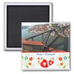 Portugal en fotos - puente del hierro imán cuadrado