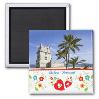 Portugal en fotos - torre de Belém Imán Cuadrado