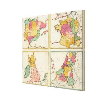 Portugal, España, Alemania, Inglaterra, Scottland Lona Estirada Galerias