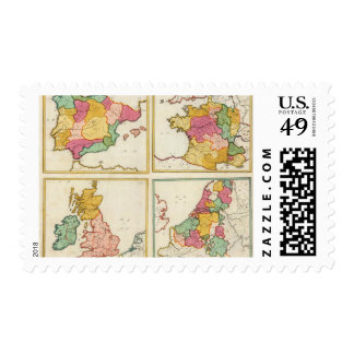 Portugal, España, Alemania, Inglaterra, Scottland Franqueo