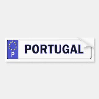 Portugal EU License Sticker Car Bumper Sticker