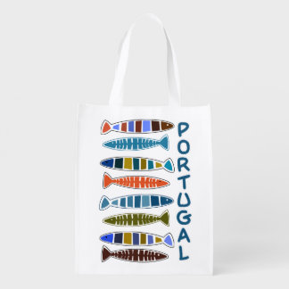 PORTUGAL Fish Pattern reusable bag