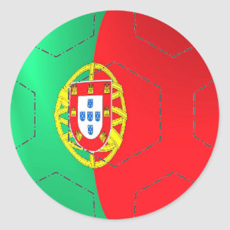 Portugal flag 3d football soccer sticker