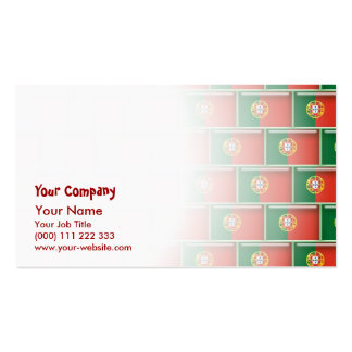 Portugal flag 3D pattern Double-Sided Standard Business Cards (Pack Of 100)