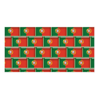 Portugal flag 3D pattern Card