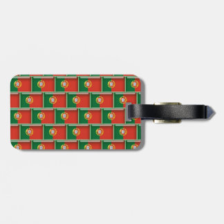 Portugal flag 3D pattern Tags For Luggage