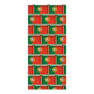 Portugal flag 3D pattern Rack Card