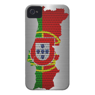 Portugal Flag and Map Steel Metal Hole Case-Mate iPhone 4 Case