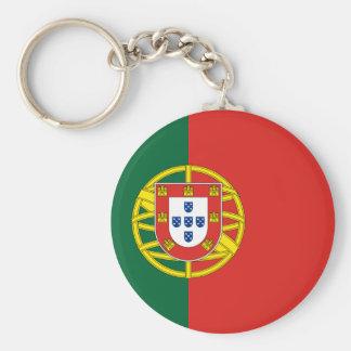Portugal flag basic round button keychain