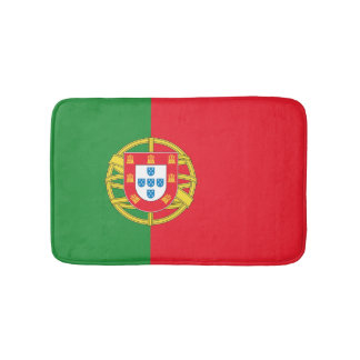 Portugal Flag Bathroom Mat