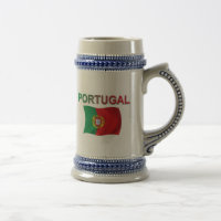 Portugal Flag Beer Stein