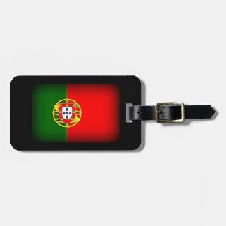 Portugal Flag Black Edge Bag Tag
