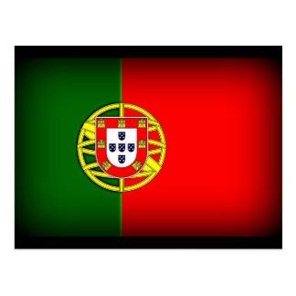 Portugal Flag Black Edge Postcard