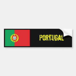 Portugal flag bumper sticker