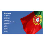 Portugal flag business card templates