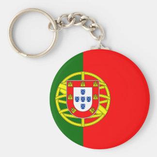 Portugal Flag Button Keychain