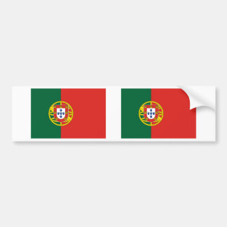 Portugal Flag Car Bumper Sticker