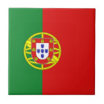 "Portugal Flag Ceramic Tile<br><div class=""desc"">This design consists of the Portuguese flag cleverly reshaped to fit the square tile surface. A decorative and useful item that would make a perfect gift for those who like to remember Portugal.</div>"