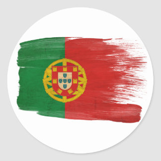 Portugal Flag Classic Round Sticker