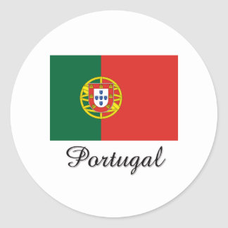 Portugal Flag Design Round Stickers