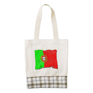 Portugal Flag (Distressed) Zazzle HEART Tote Bag