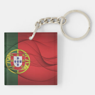 Portugal Flag Double-Sided Square Acrylic Keychain