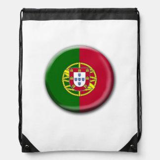 Portugal Flag Drawstring Backpack
