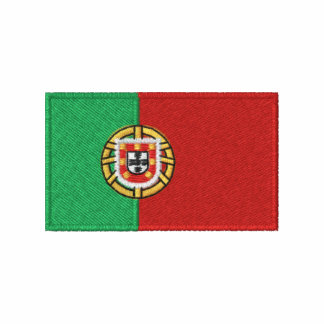 Portugal flag embroidered men s t-shirt