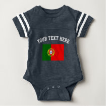 Portugal flag football sports jersey baby bodysuit