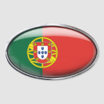 Portugal Flag Glass Oval Oval Stickers