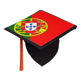 Portugal flag graduation cap topper