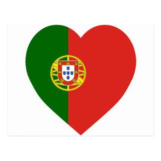 Portugal Flag Heart Postcard