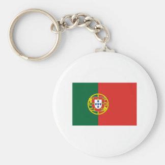 Portugal FLAG International Basic Round Button Keychain