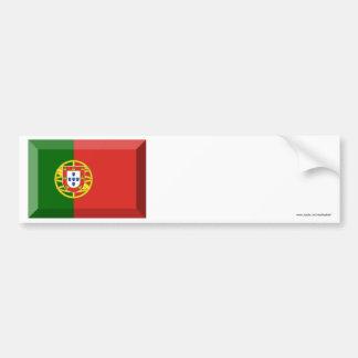 Portugal Flag Jewel Car Bumper Sticker