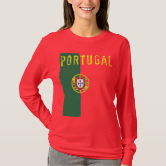 Portugal Flag Ladies Long Sleeve T-Shirt