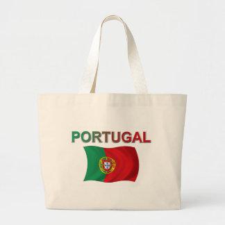 Portugal Flag Large Tote Bag