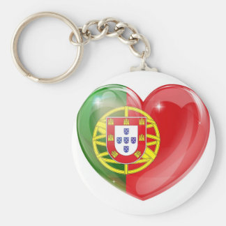 Portugal flag love heart key chains