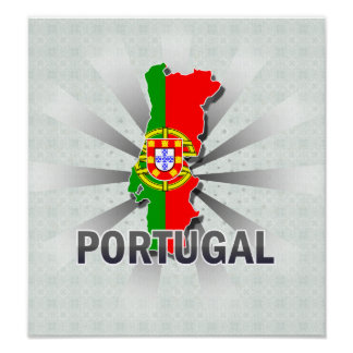 Portugal Flag Map 2.0 Poster