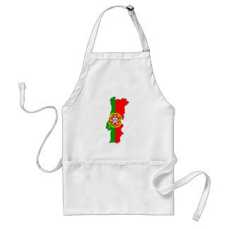 Portugal Flag Map full size Aprons