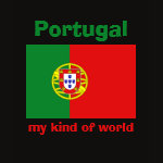 Portugal Flag Map Text Ladies Baby Doll