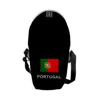 Portugal Flag Messenger Bag Backpack