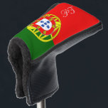 """Portugal flag monogrammed golf head putter cover<br><div class=""""desc"""">Portuguese flag golf putter cover with custom monogram letters. Trendy golf club head protection gift for friends and family. Stylish unique golfing gift ideas for him and her; worlds greatest dad, father, papa, best grandpa, step dad, uncle, grandfather, granddad, golfer, business partner, friend, boss, groom, employee, coworker, partner, husband, coach,...</div>"""