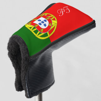 Portugal flag monogrammed golf head putter cover
